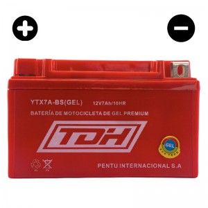 BATERIA TDH ECO TECH GEL ROJO YTX7A-BS