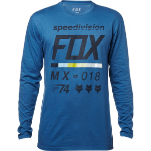 CAMISA FOX AZUL MANGA LARGA