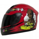 CASCO BLD NIÑO FF801 WOOD SOLID ROJO