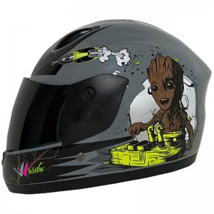 CASCO BLD NIÑO FF801 WOOD SOLID GRIS