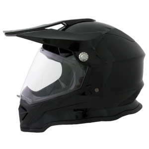 CASCO BLD SOLIDO NEGRO BRILLANTE  L