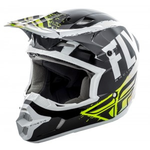 CASCO FLY KINETIC BUMISH NEGRO BLANCO VERDE