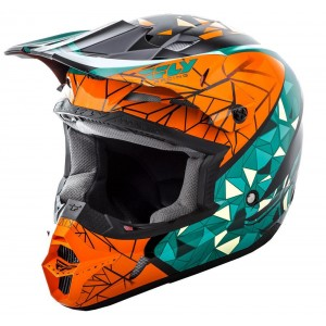 CASCO FLY KINETIC CRUX NARANJA VERDE NEGRO