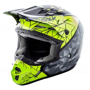 CASCO FLY KINETIC CRUX NEGRO VERDE GRIS
