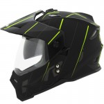 CASCO HRO DUAL SPORT CROSSED NEGRO AMARILLO MATE