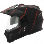 CASCO HRO DUAL SPORT SINGLE TITANIO MATE ROJO