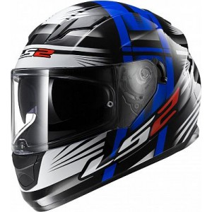 CASCO LS2 BANG NEGRO AZUL 2XL