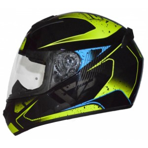 CASCO LS2 FLICKER NEGRO AMARILLO M