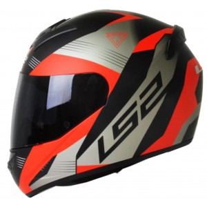 CASCO LS2 TROOPER NEGRO ROJO MATE