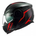 CASCO LS2 FF902 SCOPE SKID NEGRO ROJO