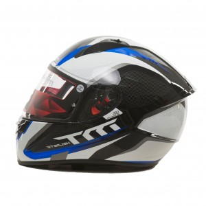 CASCO MT STINGER SPIKE NEGRO BLANCO AZUL MATE