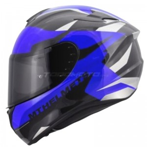 CASCO MT TARGO ENJOY AZUL BRILLO