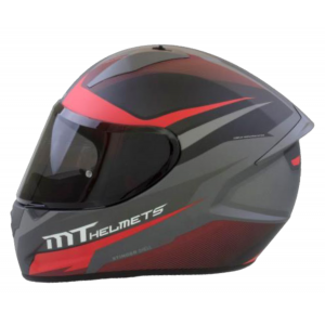 CASCO MT STINGER DIVIDED GUNMETAL ROJO MATE