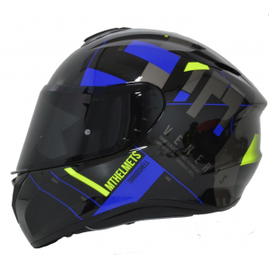 CASCO MT TARGO VENERIS AZUL BRILLO