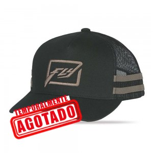 GORRA FLY HUCK IT NEGRO CAFE