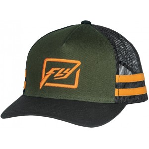 GORRA FLY HUCK IT NEGRO NARANJA