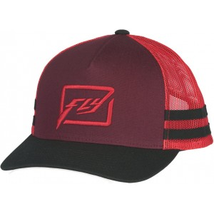 GORRA FLY HUCK IT NEGRO ROJO