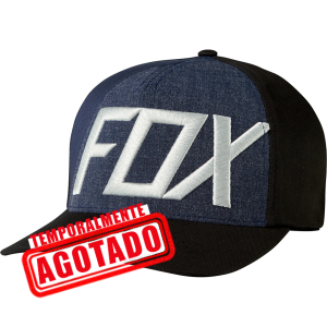 GORRA FOX FLEXFIT NEGRA 19557