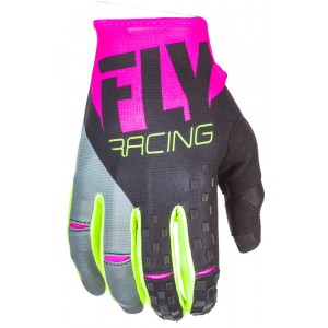 GUANTES FLY KINETIC  ROSADO VERDE NEGRO M